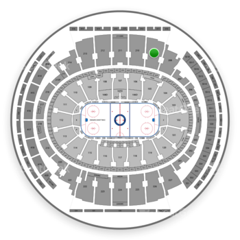 New York Rangers at Madison Square Garden Section 209 View