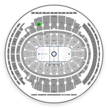 New York Rangers at Madison Square Garden Section 213 View