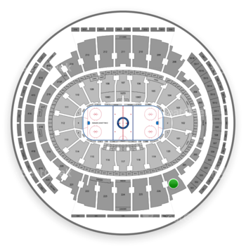 New York Rangers at Madison Square Garden Section 227 View