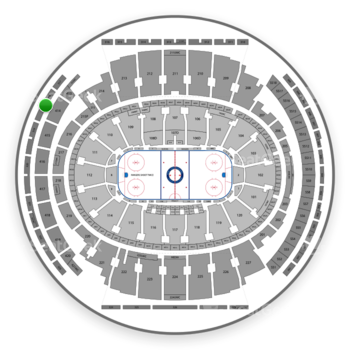 New York Rangers at Madison Square Garden Section 318 View