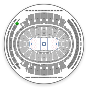 New York Rangers at Madison Square Garden Section 413 View
