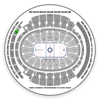 New York Rangers at Madison Square Garden Section 414 View