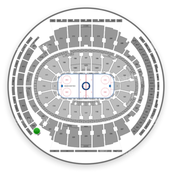 New York Rangers at Madison Square Garden 421 Wc View