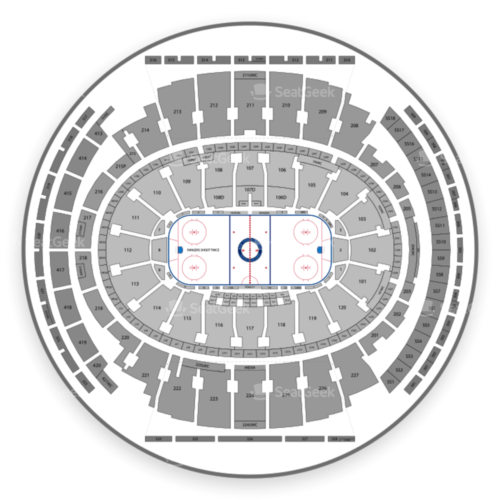 Perfect Madison Square Garden Seating Chart Comedy. New York Rangers Seating Chart