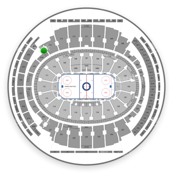New York Rangers at Madison Square Garden Section 215 View