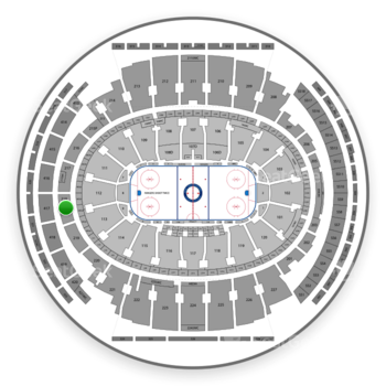 New York Rangers at Madison Square Garden Section 218 View