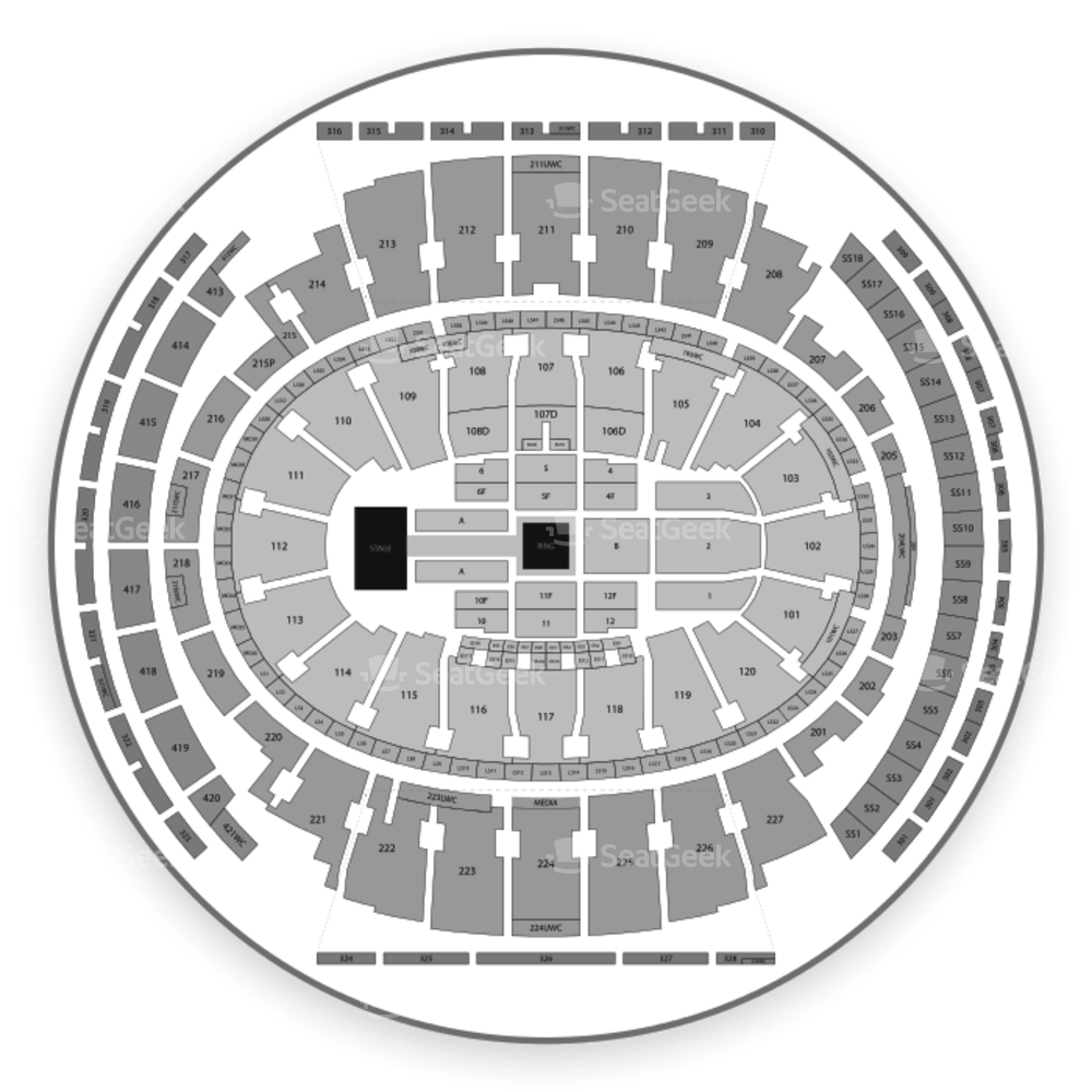 Madison Square Garden Seating Chart Wrestling