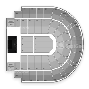 i wireless Center Seating Chart Concert
