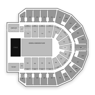iWireless Center Seating Chart Concert