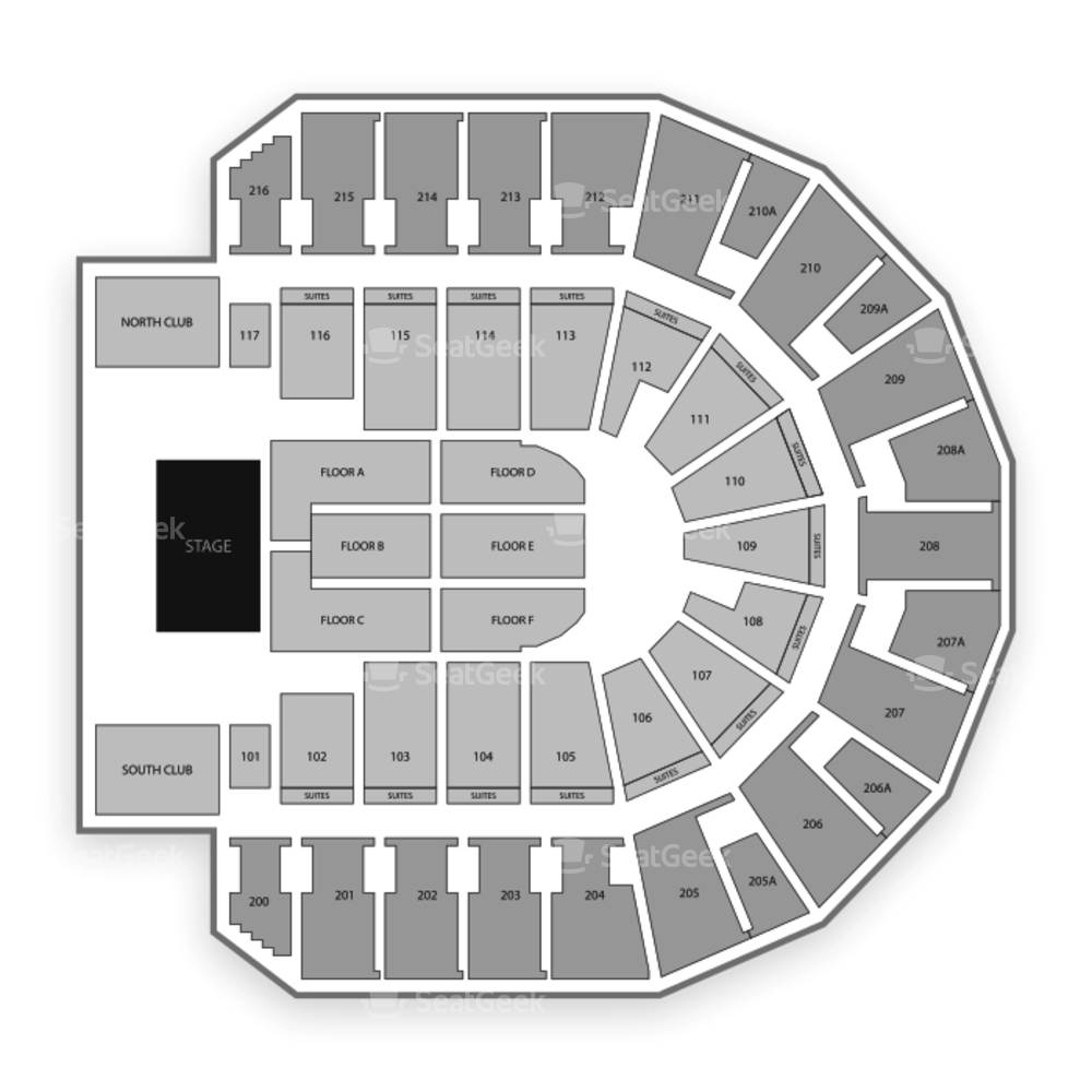TaxSlayer Center Seating Chart Concert