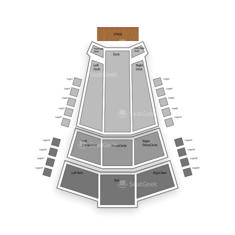 The Centre in Vancouver for Performing Arts Seating Chart Comedy
