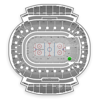 Calgary Flames at Scotiabank Saddledome Section 102 View