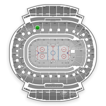 Calgary Flames at Scotiabank Saddledome Section 214 View