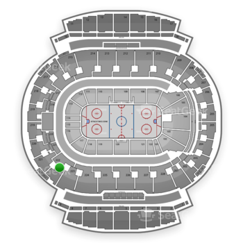 Calgary Flames at Scotiabank Saddledome Section 222 View