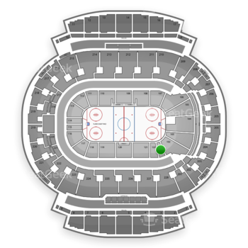 Calgary Flames at Scotiabank Saddledome Section 101 View