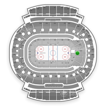 Calgary Flames at Scotiabank Saddledome Section 104 View