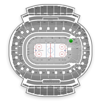 Calgary Flames at Scotiabank Saddledome Section 106 View