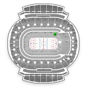 Calgary Flames at Scotiabank Saddledome Section 107 View