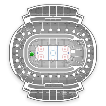 Calgary Flames at Scotiabank Saddledome Section 115 View