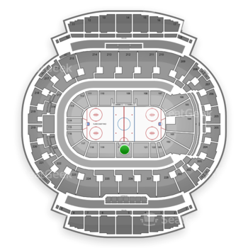 Calgary Flames at Scotiabank Saddledome Section 120 View