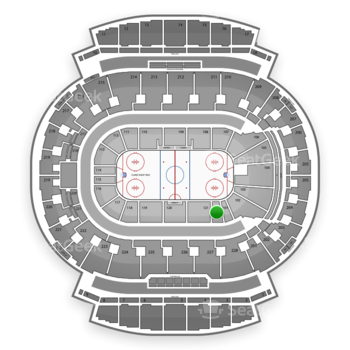 Calgary Flames at Scotiabank Saddledome Section 122 View