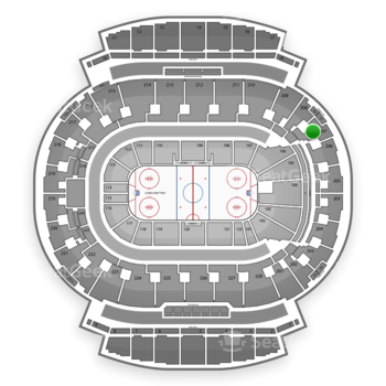 Calgary Flames at Scotiabank Saddledome Section 207 View