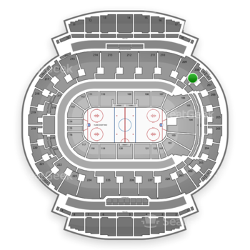 Calgary Flames at Scotiabank Saddledome Section 208 View