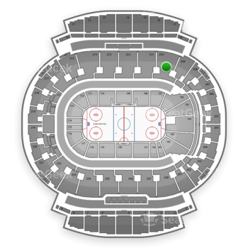 Calgary Flames at Scotiabank Saddledome Section 210 View