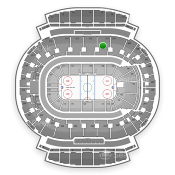 Calgary Flames at Scotiabank Saddledome Section 211 View