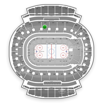 Calgary Flames at Scotiabank Saddledome Section 213 View