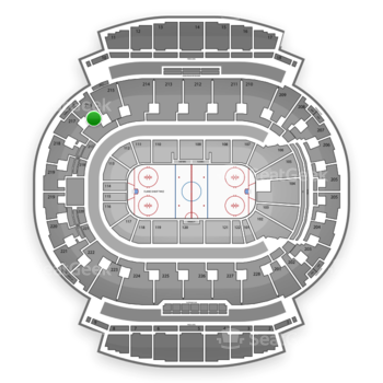 Calgary Flames at Scotiabank Saddledome Section 216 View