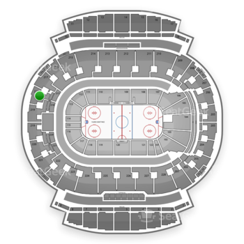 Calgary Flames at Scotiabank Saddledome Section 218 View