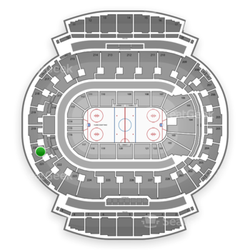 Calgary Flames at Scotiabank Saddledome Section 220 View