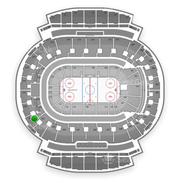 Calgary Flames at Scotiabank Saddledome Section 221 View