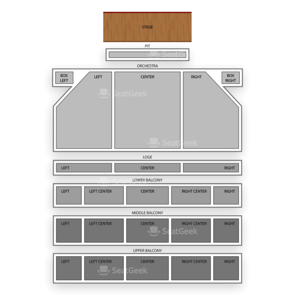 The Hanover Theatre Seating Chart Broadway Tickets National