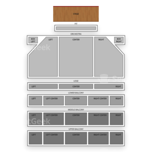 Hanover Theatre for the Performing Arts Seating Chart Broadway Tickets National