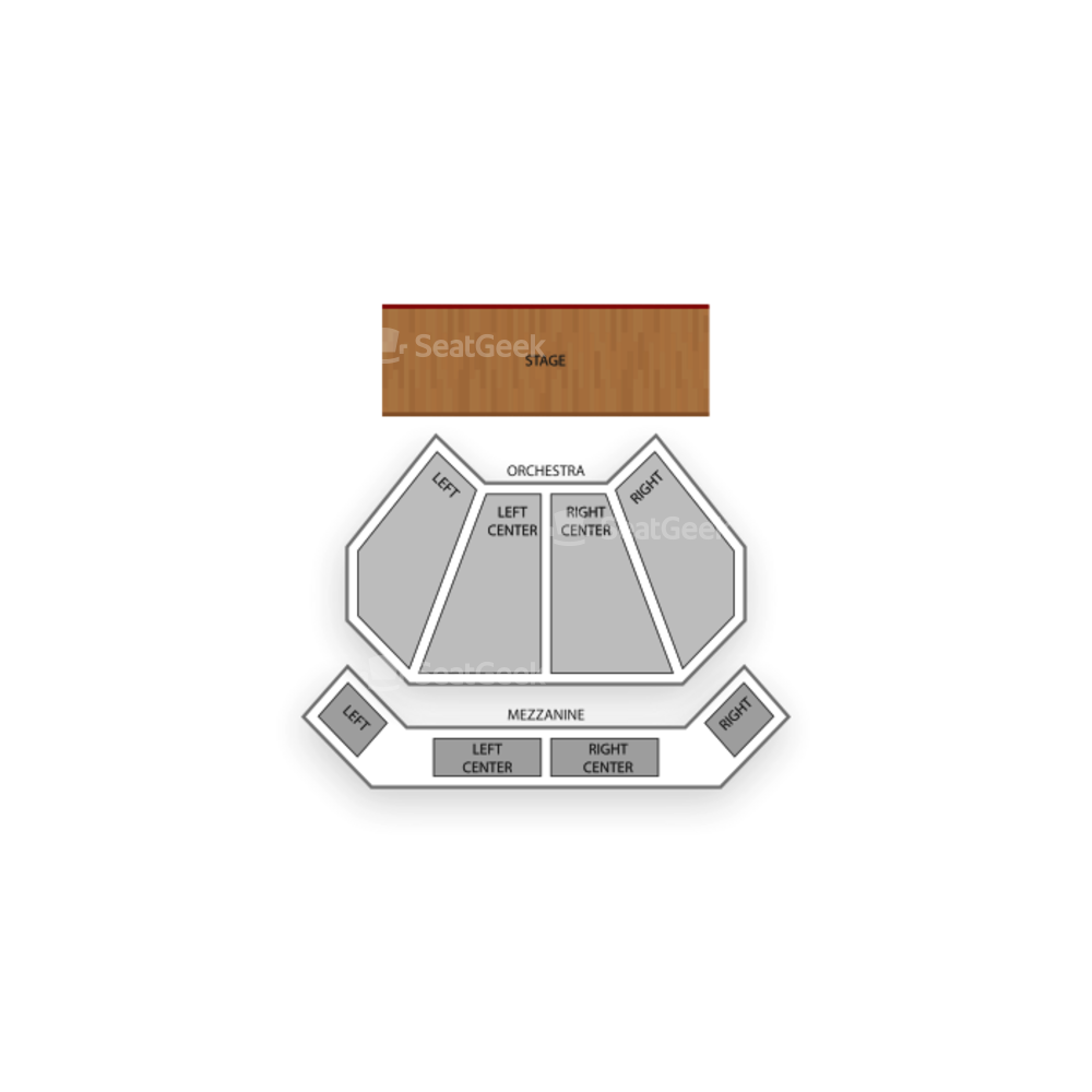 River Rock Show Theatre Seating Chart Concert
