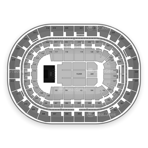 MTS Centre Seating Chart