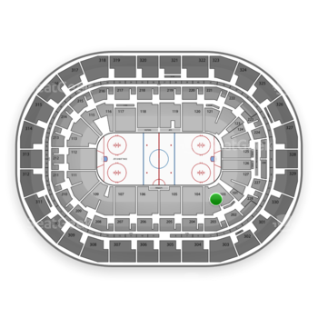 Winnipeg Jets at Bell MTS Place Section 103 View