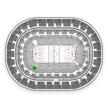 Winnipeg Jets at Bell MTS Place Section 109 View