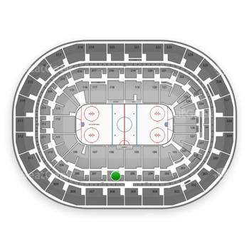 Winnipeg Jets at Bell MTS Place Section 206 View