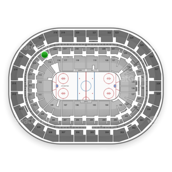 Winnipeg Jets at Bell MTS Place Section 215 View