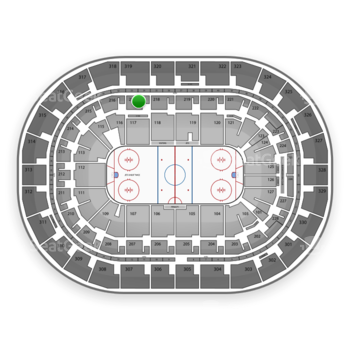 Winnipeg Jets at Bell MTS Place Section 217 View