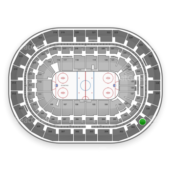 Winnipeg Jets at Bell MTS Place Section 301 View