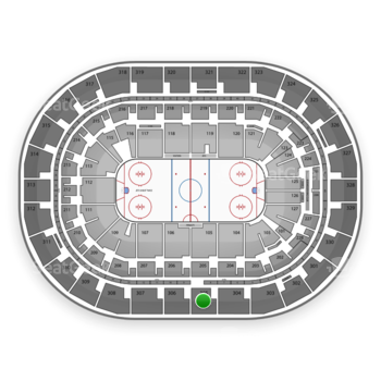 Winnipeg Jets at Bell MTS Place Section 305 View