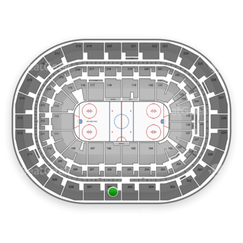 Winnipeg Jets at Bell MTS Place Section 306 View
