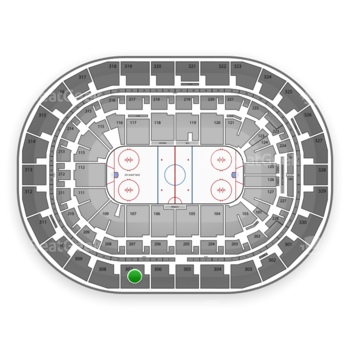 Winnipeg Jets at Bell MTS Place Section 307 View