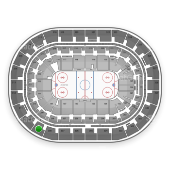 Winnipeg Jets at Bell MTS Place Section 309 View