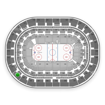 Winnipeg Jets at Bell MTS Place Section 310 View