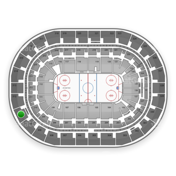 Winnipeg Jets at Bell MTS Place Section 311 View